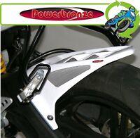New Powerbronze Rear Hugger White & Silver Yamaha YZFR125 YZF-R125 2009 to 2017