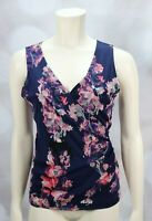 New York and Company Floral V Neck Top size Small