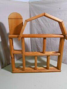 Homemade Barn Shaped Shelf with Silo