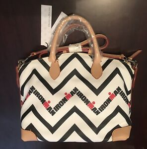 Dooney & Bourke‎ Ironman Triathlon M-Dot Chevron Satchel Purse *New withTags