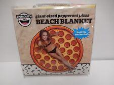 New Big Mouth Giant Sized Pepperoni Pizza Beach Pool Towel Blanket - 5 Feet