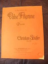Partition Valse Filigrane Schafer  Music Sheet Grand Format
