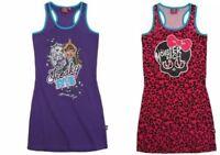 Monster High Fille Robe Jupe Tunique T-Shirt Débardeur Draculaura Frankie Stein