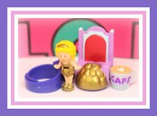 ❤️Polly Pocket Vtg 1990 Polly Plays Princess on Throne Ring COMPLETE Bluebird❤️