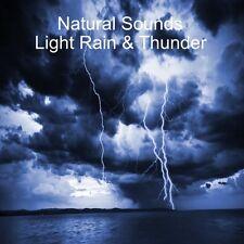NATURAL SOUNDS OF LIGHT RAIN & THUNDER CD - RELAXATION STRESS RELIEF DEEP SLEEP