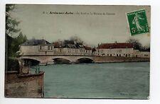 ARCIS SUR AUBE Aube CPA 10 carte couleur pont aube maison de danton