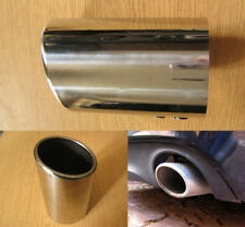 Chrome Exhaust Tip 88mm Steel Tail Pipe Sports Oval Audi A4 B7 B8 A6 4F 4G Q7 Q5
