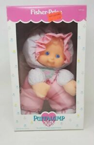 Vintage 1990 Fisher Price Puffalump Kids Doll Stuffed Plush New In Box