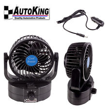 AUTOKING 12V VOLT PORTABLE CAR FAN OSCILLATING RV BOAT CAR CARAVAN TRUCK CAMPING