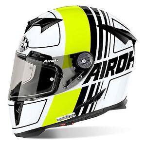 Airoh GP500 Kratzen Schwarz/Gelb Carbon Mix Motogp Licht Motorrad Helm