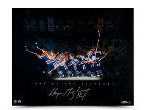 "Wayne Gretzky Signed Autographed 16X20 Photo ""Art of the Slapshot"" Oilers UDA"