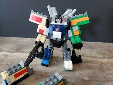 Custom Kreon Transformers Raiden Trainbot Combiner and 6 trains 294 LEGO,3d head