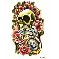 Temporäre Tattoos Totenkopf freedom Rockabilly Design Temporary Klebetattoo