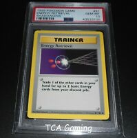 PSA 10 GEM MINT Energy Retrieval 81/102 SHADOWLESS Base Set Pokemon Card