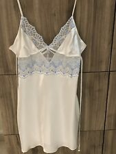 Linea Donatella Bridal Slip Dress Lingerie With Matching Gown Sz S