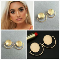 Fashion Women Elegant Gold Plated Simple Small Round Ear Stud Earrings Jewelry