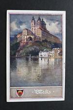 Schulverein Künstler Monogramm AR / AK Melk a Donau 1910-25 Kloster Ort Häuser