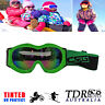 GREEN Snow Snowmobile Snowboard SKI UV GOGGLES Kids Boy Girl Winter Sports