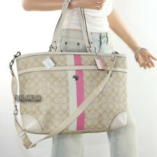 NWT Coach Signature Heritage Stripe Baby Diaper Bag Multifunction Tote F14475