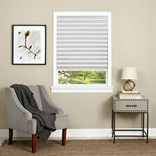Vinyl Window Blinds Black Out Pleated 36 x 75 Inch Sun Shade Pull Down