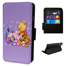 Winnie Pooh Family - Flip Phone Case Wallet Cover - Fits Iphones & Samsung