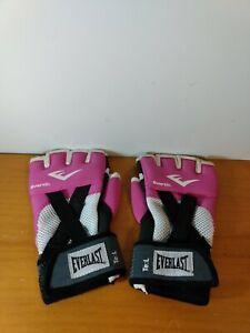 Everlast Ever Gel MMA Gloves Boxing Martial Arts pink size size L adjustable EUC