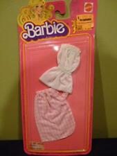 Barbie Bargain Fashions Pink White Checked Skirt Apron Romper 1978 New Package