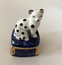 Vintage Fitz & Floyd Ceramic/Porcelain Cat Trinket Box 1981