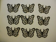Black Butterflies Card Stock Die Cut/ Punch Outs Fiskars set of 9