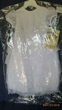 Baby Girl Christening Baptism Multi Tiered Gown with Satin Bodice NWT 9-12 Month