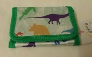 Child size wallet with Dinosaur theme - in organza bag
