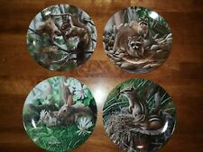 "Set of Four Knowles Collector Plates Series ""Friends of the Forest"""
