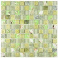 Mosaik Fliese Transluzent grün Glasmosaik Crystal Stein|82C-0502_f| 10 Matten