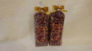 2pk Potpourri Hibiscus-Lavender-Rose Petals & Hips-Yield 48ozs NO FILLER-Unique