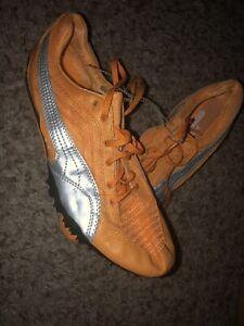 PUMA 182878 Men's Complete TFX Track Shoes Orange Gray 12.5 New