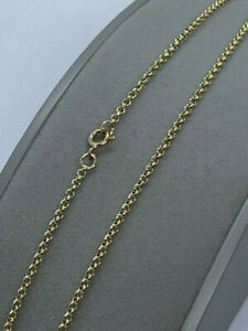 """9ct Yellow Gold Solid 2.25mm Belcher Round Link Chain 28"""" / 70cm (BBL)"""
