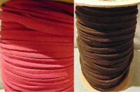 """Piping Bias Insertion Cord Rope Trimming 1/2"""" Double Fold BY THE YARD Red Brown"""