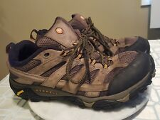 Merrell Performance Footware Taupe Leather Walking Trail Shoes Men's US 13 M