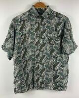 Callan Shirts Mens Vintage Paisley Button Up Shirt Size Medium Made in Australia
