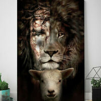 Jesus Lion And Lamb The Perfect Combination Poster, Lion Of Judah Wall Art