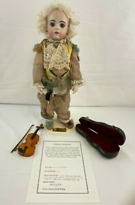 Vintage My Little Mozart BRU Bisque Porcelain Doll Rumiko Nagata 1994 OOAK  VGC