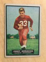 """JIMMY MONAHAN 1951 TOPPS MAGIC #1 ROOKIE RC RUTGERS LEGEND """"READ"""" VINTAGE"""
