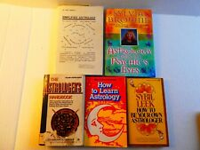 Lot of 5 books on Astrology:How to Learn Astology by Marc E. Jones; Sybil Leek,