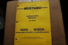 Mustang 920 930a Skid Steer Loader Owner Operator Operation Maintenance Manual