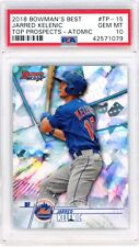 POP1️⃣7️⃣ 2018 Bowmans Best JARRED KELENIC Top Prospects Atomic Refractor PSA 10