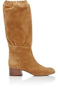 Chloe Slouchy Knee Brown Boots Leather Suede $1350 38.5 US 8.5, Gorgeous!