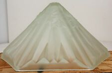 Frosted Art Deco Hexagonal French Glass Lamp Shade