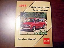 factory gm gmc service manual 1988 light duty trucks safari vans 88 chevy astro