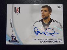 2013 Topps Premier League Gold Autograph Card 'Aaron Hughes' Fulham #SP-AH