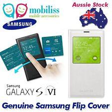 Official Genuine Samsung Galaxy S5 i9600 S-View Premium Flip Cover - White